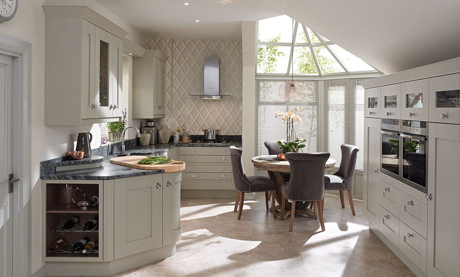 quality kitchen doors nottingham curved style